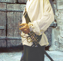 Pirate Baldric 2-1/2 inches wide with solid brass buckles & brass rivets shown in black leather.