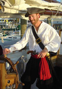 Narrator Matt wearing our Pirate Baldric at the 2005 Pirate Fest in Key West. Photo used by permission.