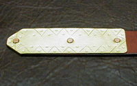 Anglo-Saxon Medieval & Viking Age Belt with hand-worked zigzag and dot pattern Belt tip.