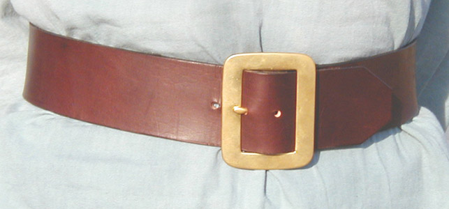 Our Pirate Belt with heavy brass buckle looks superb with Pirate finery, a great kilt, or Medieval and Renaissance costume or garb. Can be made longer as a Jack Sparrow belt on request.