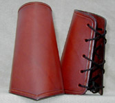 Simple Bracers shown in Chestnut leather.