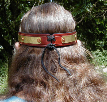 Royal Circlet rear view showing leather tie.